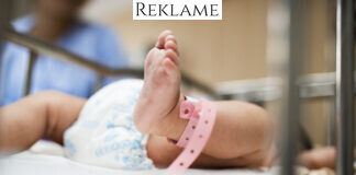 Nyfødt baby på hospital